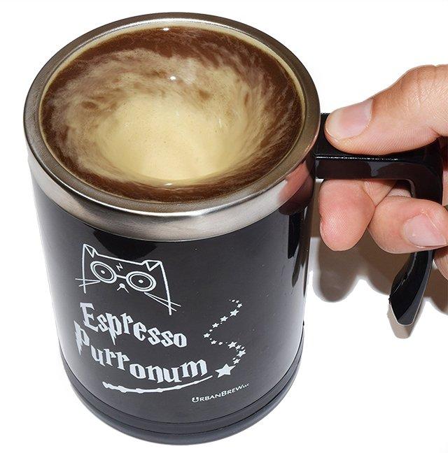 Espresso Purronum self-stirring mug