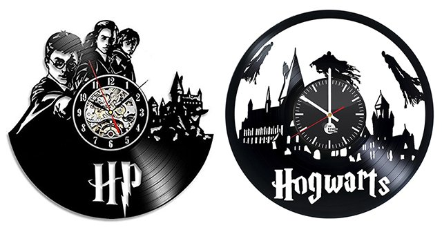 Harry Potter vinyl record wall clocks