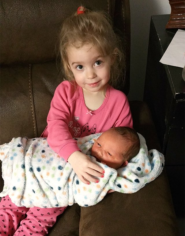 Louise's birth story - siblings