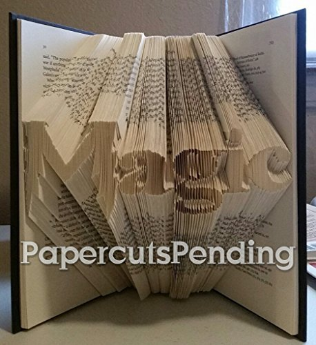 Magic handmade folded book sculpture