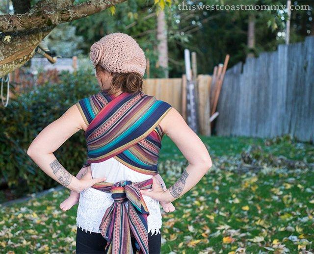 Maman Kangourou wrap - back view