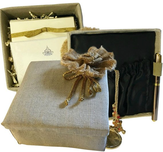 tan fabric box