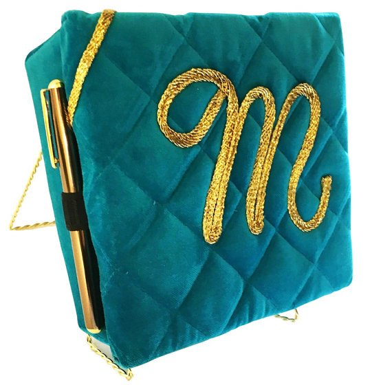 teal blue fabric box