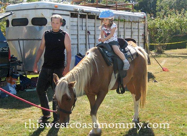 1st time on a pony