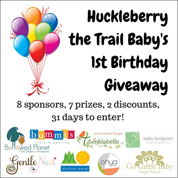 Huckleberry the Trail Baby's 1st Birthday Giveaway event