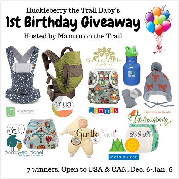 Huckleberry the Trail Baby's Birthday Giveaway