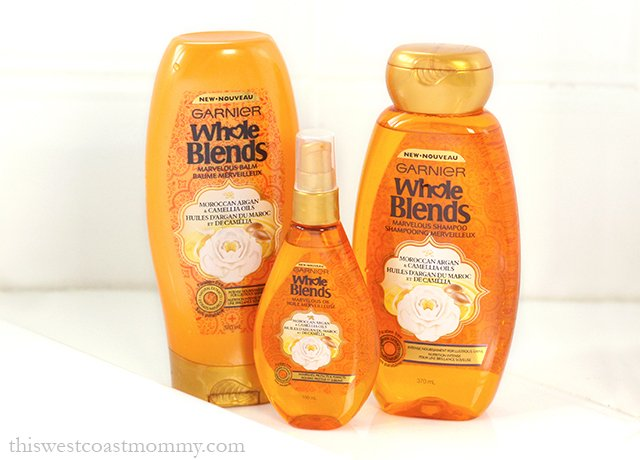 Garnier Whole Blends Moroccan Argan and Camellia Oils Shampoo, Balm, and Oil