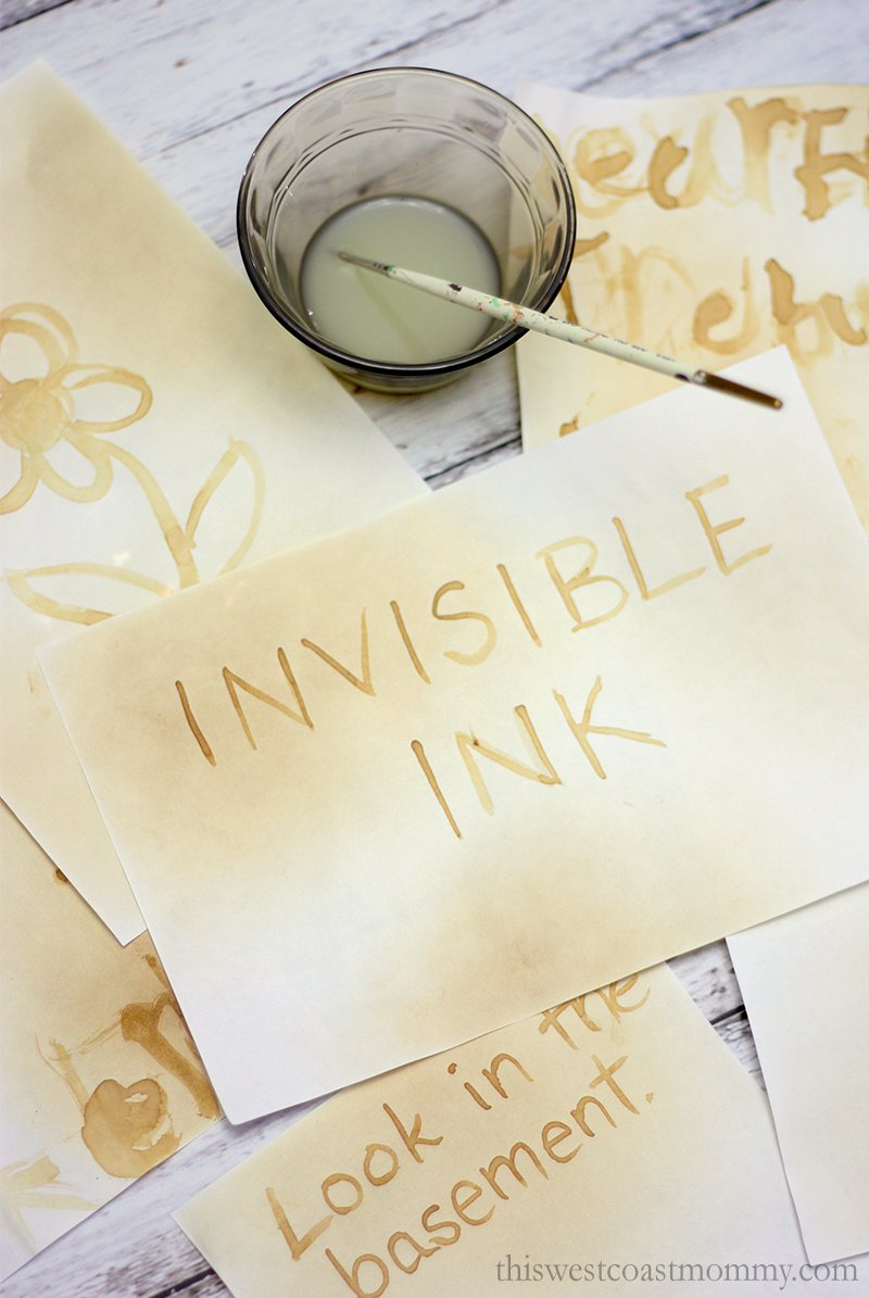 Send secret messages and pictures with invisible ink and the science of oxidation!