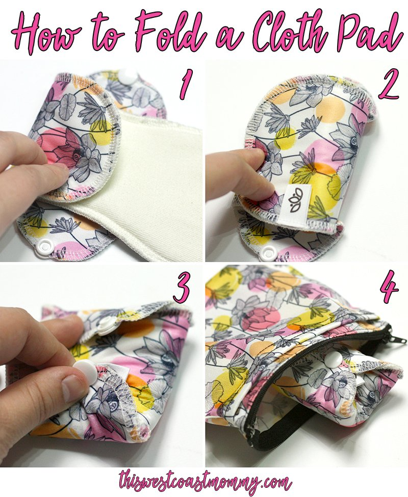 How to fold your cloth pad