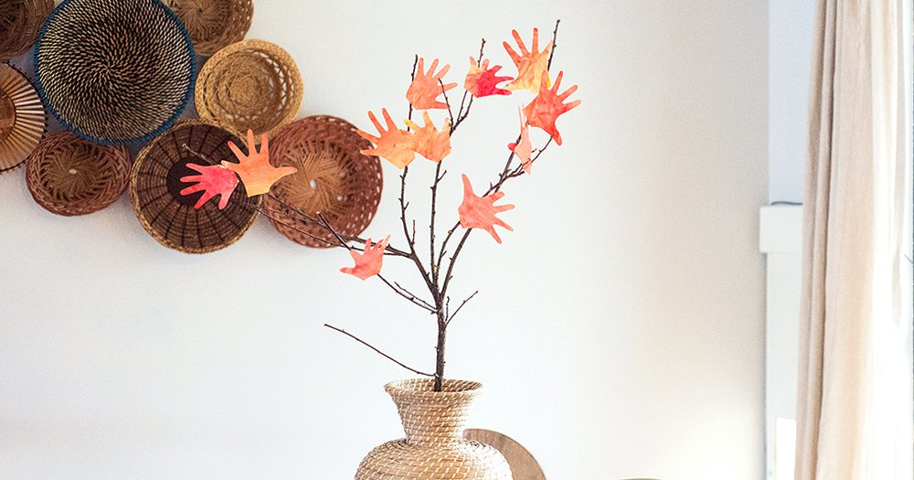 Fall Craft Make A Handprint Tree This West Coast Mommy
