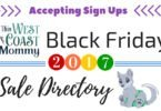 Black Friday 2017 Sale Directory Sign Ups Now Open