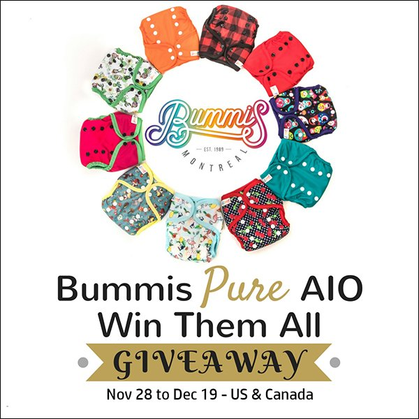 10 Bummis Pure AIO Cloth Diapers (CAN/US, 12/19)