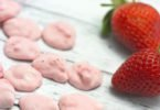 Frozen Strawberry Yogurt Drops