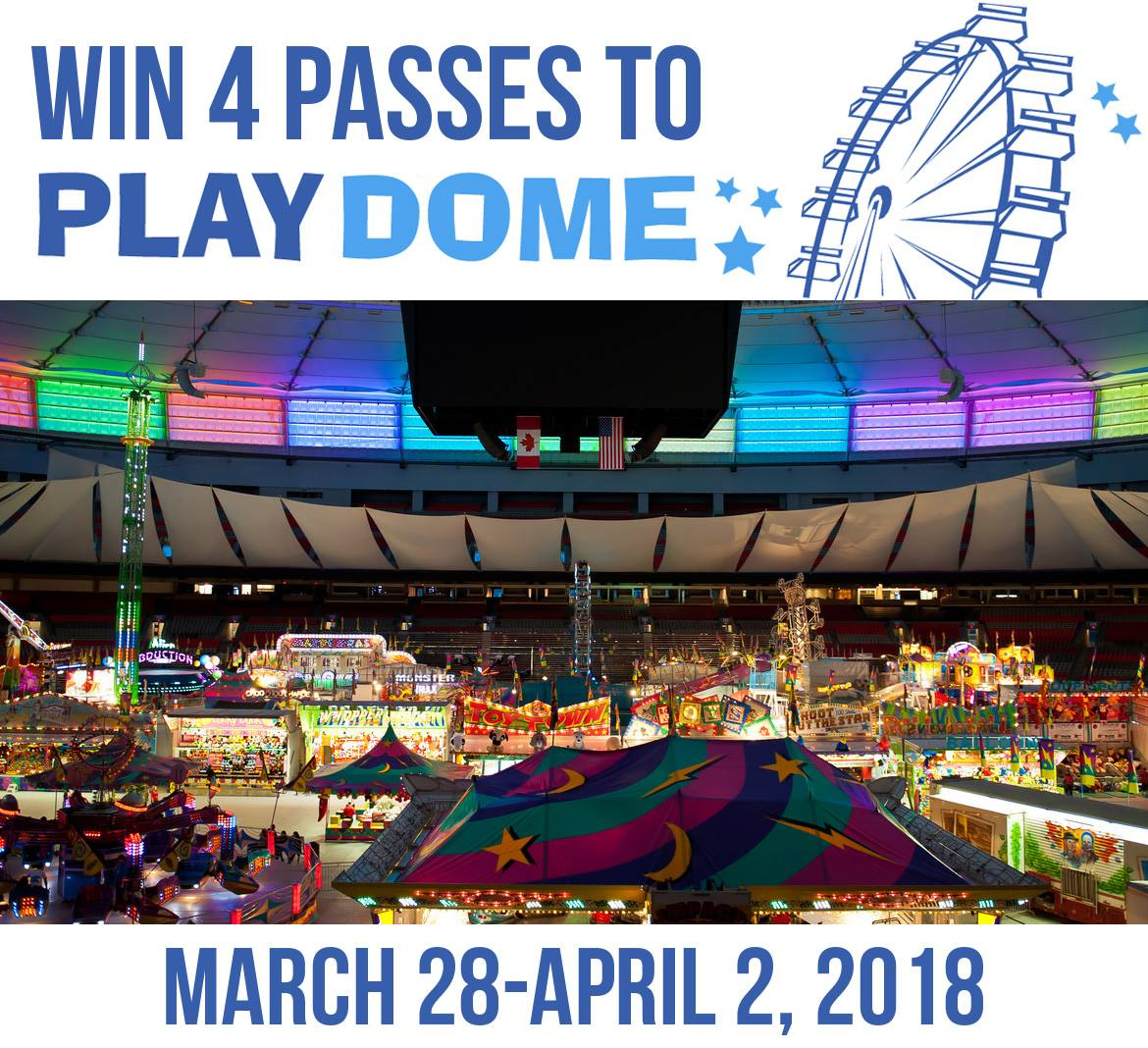 4 Passes to PlayDome at BC Place (CAN, 3/21)