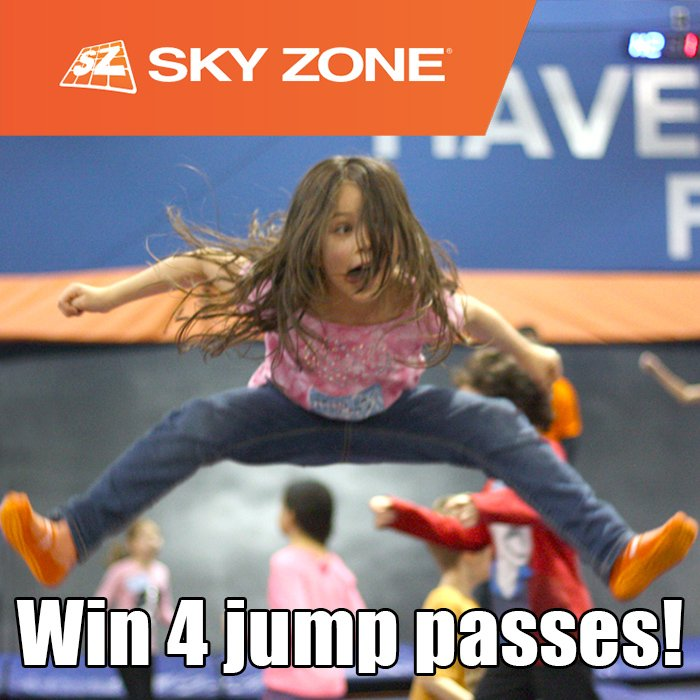 4 Jump Passes to SkyZone Surrey - 2 Winners! (CAN, 3/26)
