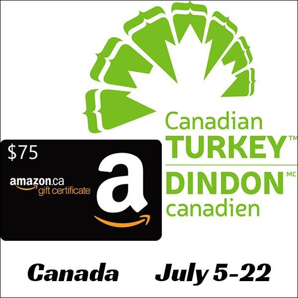 $75 Amazon Gift Card (Canada, 7/22)