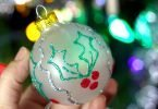 DIY Fabric Paint Christmas Tree Ornaments