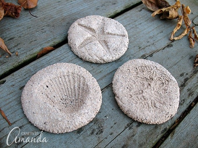 Coffee Ground Fossils from Crafts by Amanda