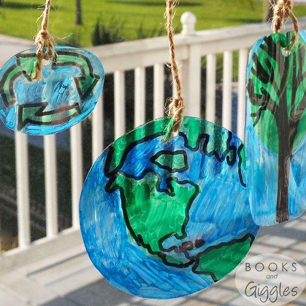 Upcycled Plastic Suncatchers